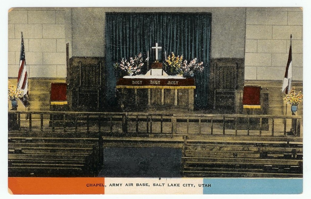 Post card view of Army Chapel.