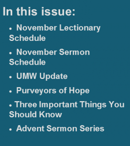 In This Issue - November 2014
